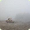 Tractor in the fog